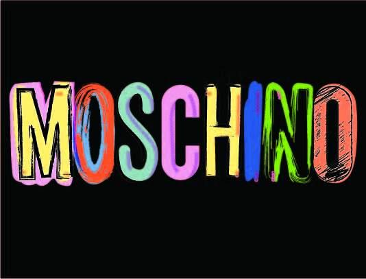 多彩字母MOSCHINO潮牌印花矢量图服装裁片T恤烫图印花花型素材-POP花型网