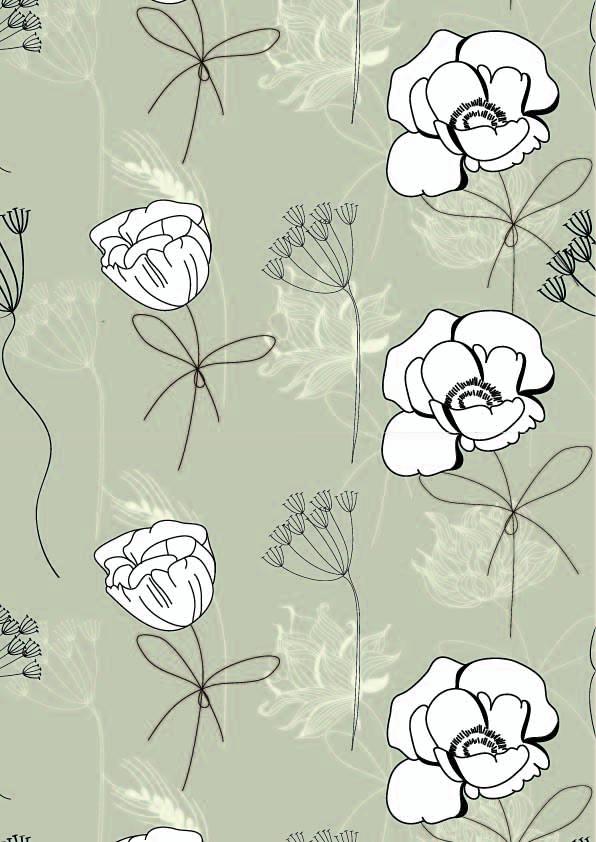 几何花纹植物花卉印花矢量图服装纺织面料数码印花素材-POP花型网