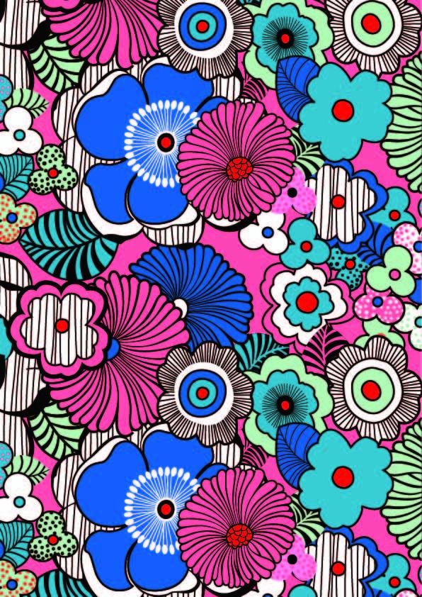 多彩几何花纹印花矢量图服装纺织面料数码印花花型素材-POP花型网