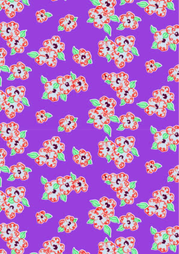 几何花朵印花矢量图服装纺织数码印花花型素材-POP花型网