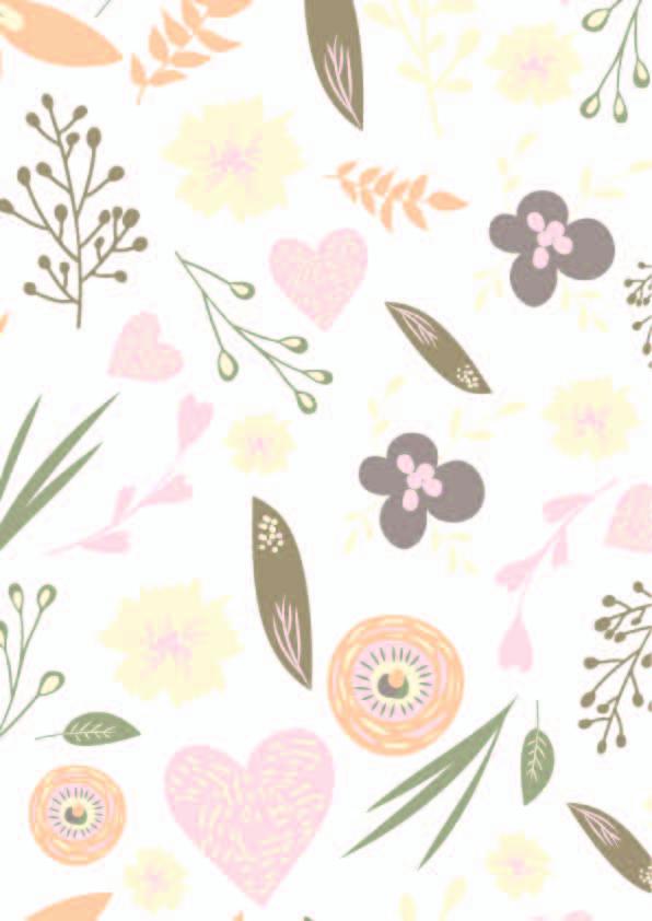 卡通植物叶子爱心拼接印花矢量图服装纺织数码银狐花型素材-POP花型网