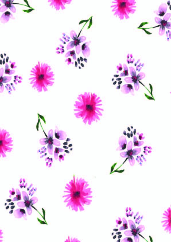水彩小碎花拼接印花矢量图服装纺织数码印花花型素材-POP花型网