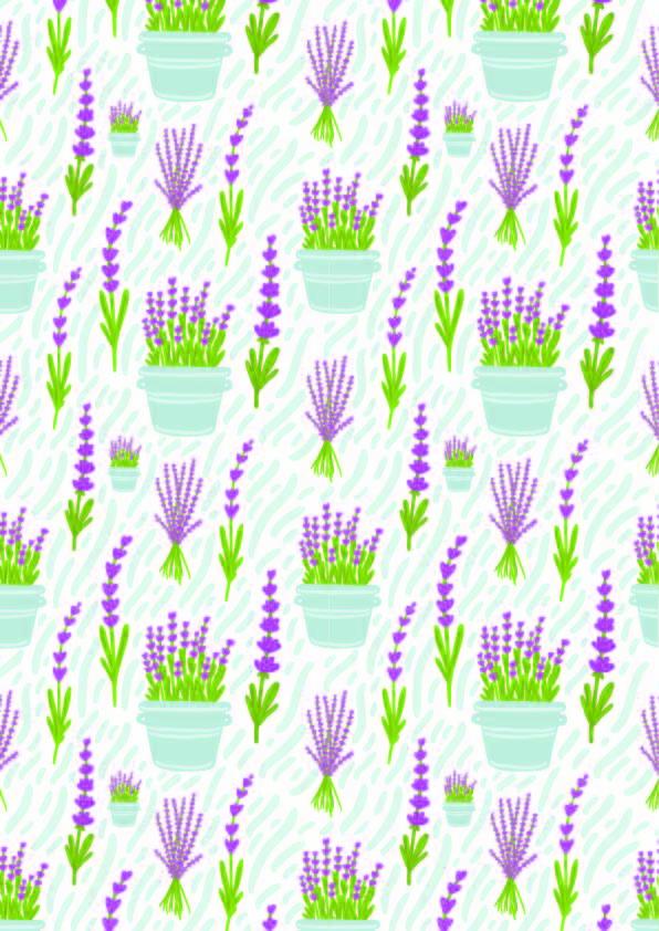 紫色植物花朵印花矢量图服装纺织数码印花花型素材-POP花型网