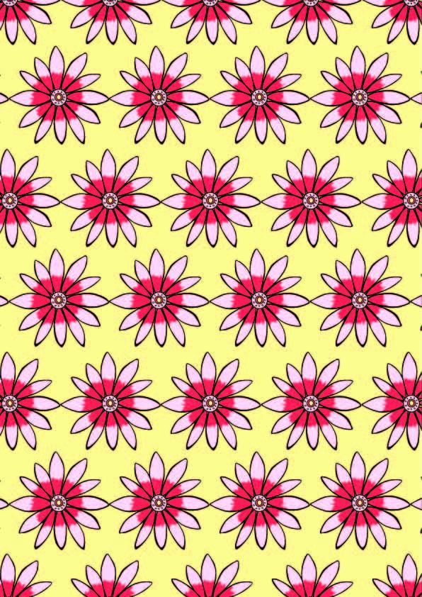 几何花纹花朵印花矢量图服装纺织数码印花花型素材-POP花型网
