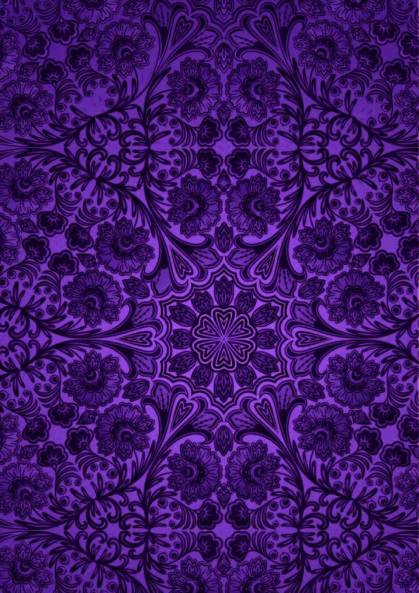 紫色复古几何花纹印花矢量图服装纺织数码印花花型素材-POP花型网