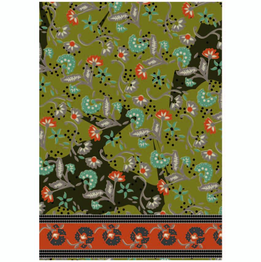 民族风植物花纹印花印花矢量图服装纺织数码印花花型素材-POP花型网