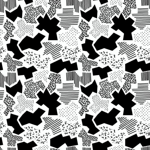 几何图案拼接印花矢量图服装纺织数码印花花型素材-POP花型网