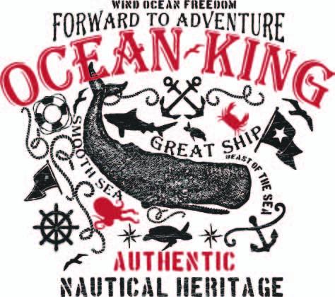 动物抹香鲸鲨鱼字母印花矢量图服装裁片T恤烫图印花花型素材-POP花型网