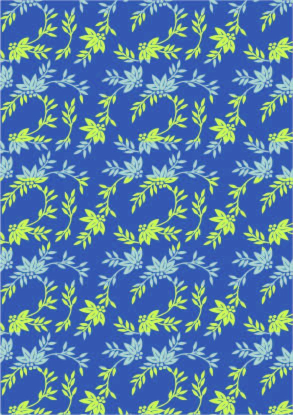 植物花纹叶子印花矢量图服装纺织数码印花花型素材-POP花型网