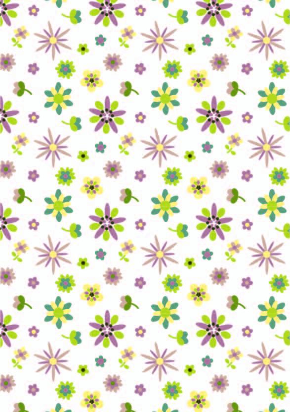 植物花朵拼接印花矢量图服装纺织数码印花花型素材-POP花型网