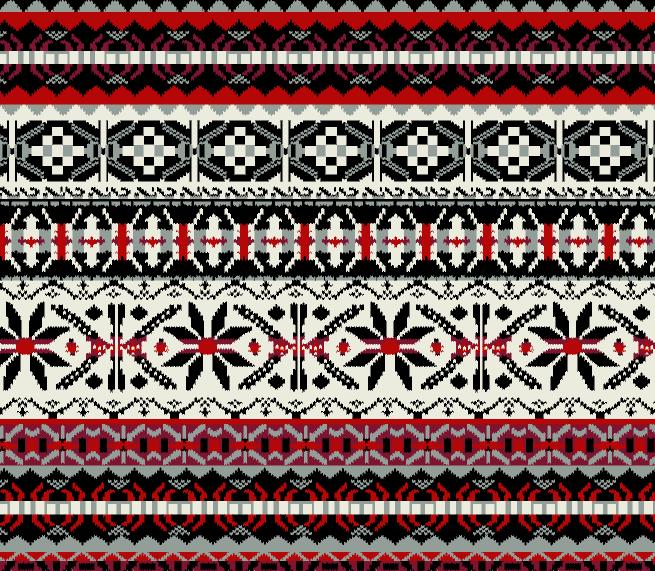 几何花纹拼接印花矢量图服装纺织水印数码印花金昌花型素材-POP花型网