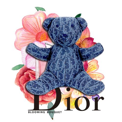 潮牌卡通熊字母Dior印花矢量图服装裁片T恤烫图印花花型素材-POP花型网
