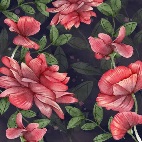 植物花纹牡丹花拼接印花矢量图服装纺织数码印花花型素材-POP花型网