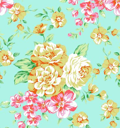植物牡丹花印花矢量图服装纺织水印数码印花金昌花型素材-POP花型网