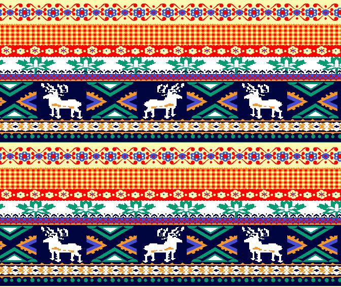 几何花纹格子驯鹿印花矢量图服装纺织水印数码印花金昌花型素材-POP花型网