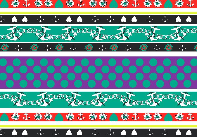几何花纹圆点船锚印花矢量图服装纺织水印数码印花金昌花型素材-POP花型网