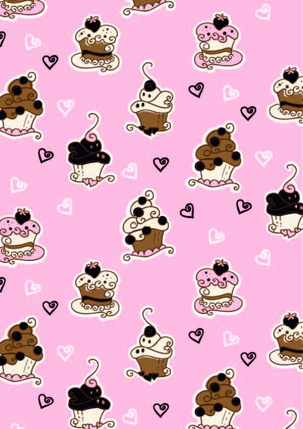 蛋糕爱心印花矢量图服装纺织数码印花花型素材-POP花型网