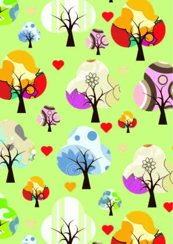 植物花纹印花矢量图服装纺织数码印花花型素材-POP花型网