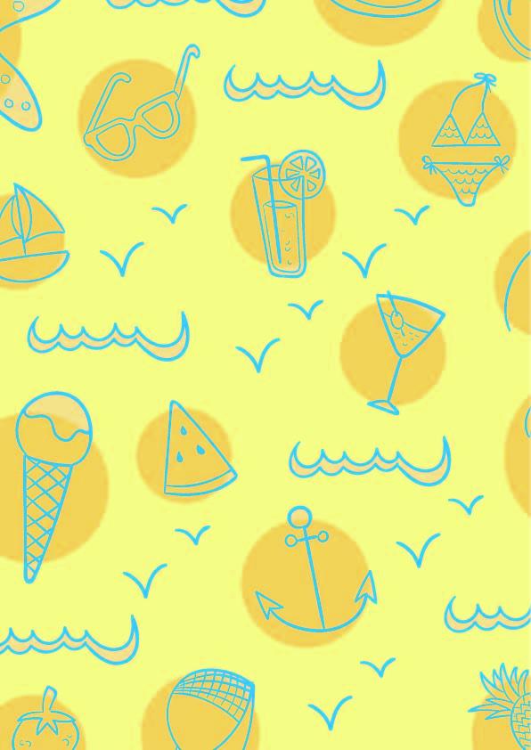 几何图案线条饮料杯雪糕帆船印花矢量图服装纺织数码印花花型素材-POP花型网