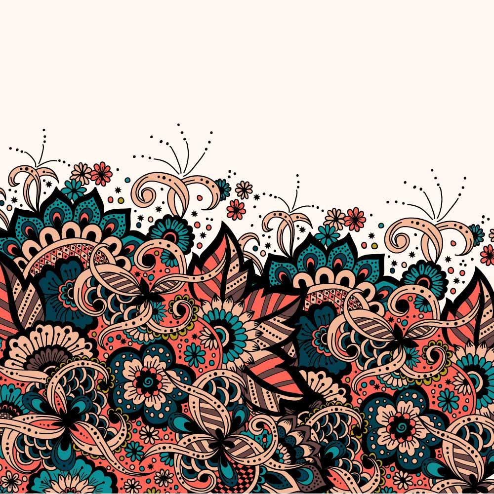 几何花纹印花矢量图服装纺织数码印花花型素材-POP花型网
