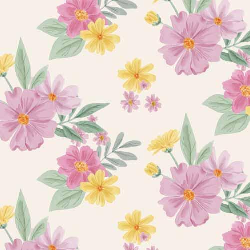 植物花纹拼接印花矢量图服装纺织数码印花花型素材-POP花型网