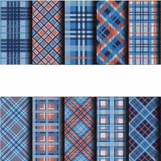 几何格子印花矢量图服装纺织数码印花花型素材-POP花型网