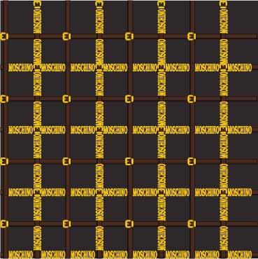 几何条纹格子字母MOSCHINO印花矢量图服装纺织数码印花花型素材-POP花型网