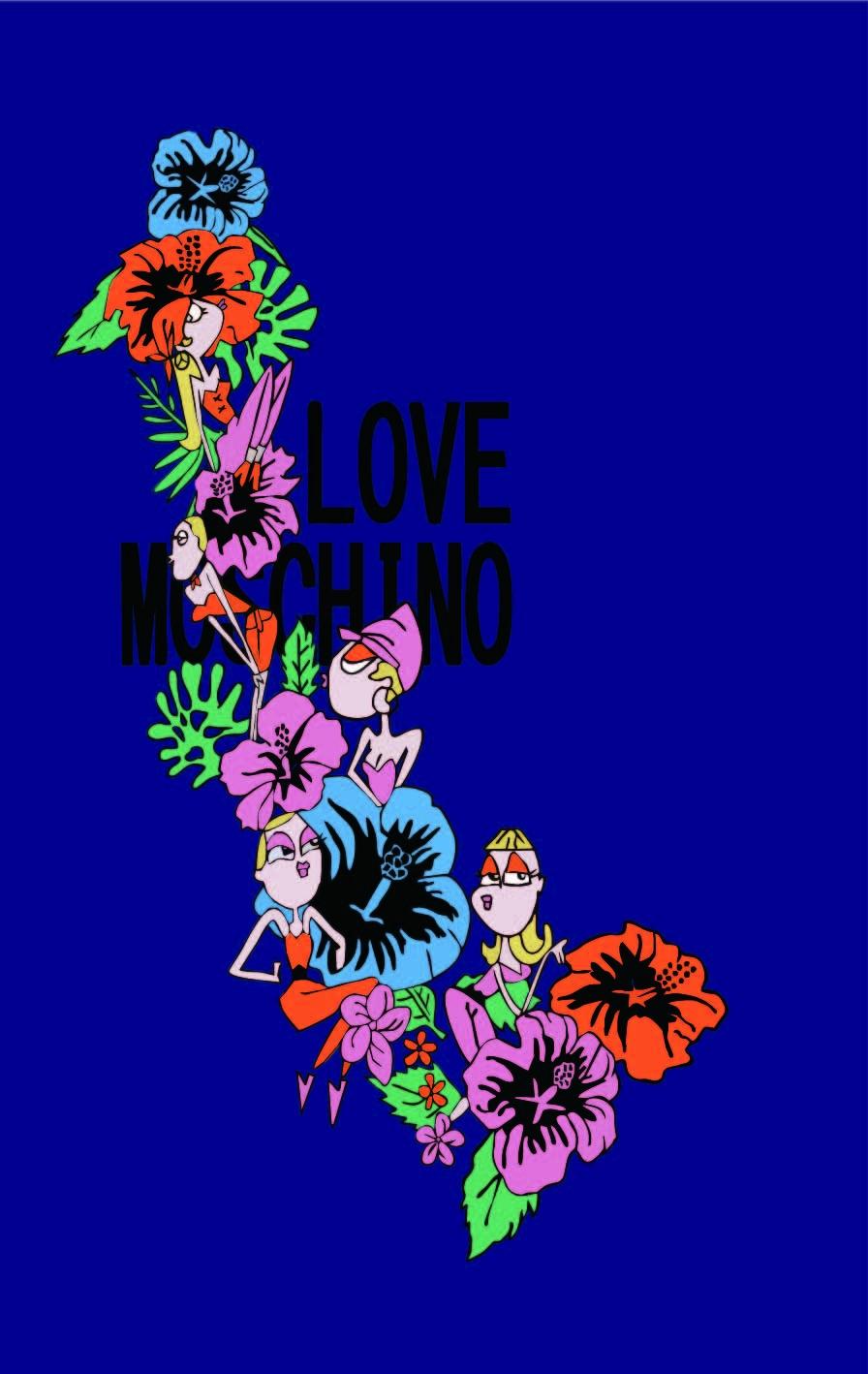 卡通人物植物花卉字母印花花型素材服装裁片T恤烫图印花花型素材-POP花型网