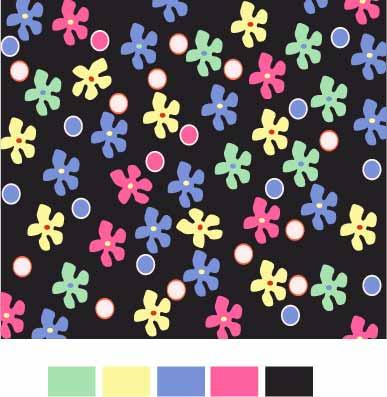 几何花纹植物花朵印花矢量图服装纺织数码印花花型素材-POP花型网