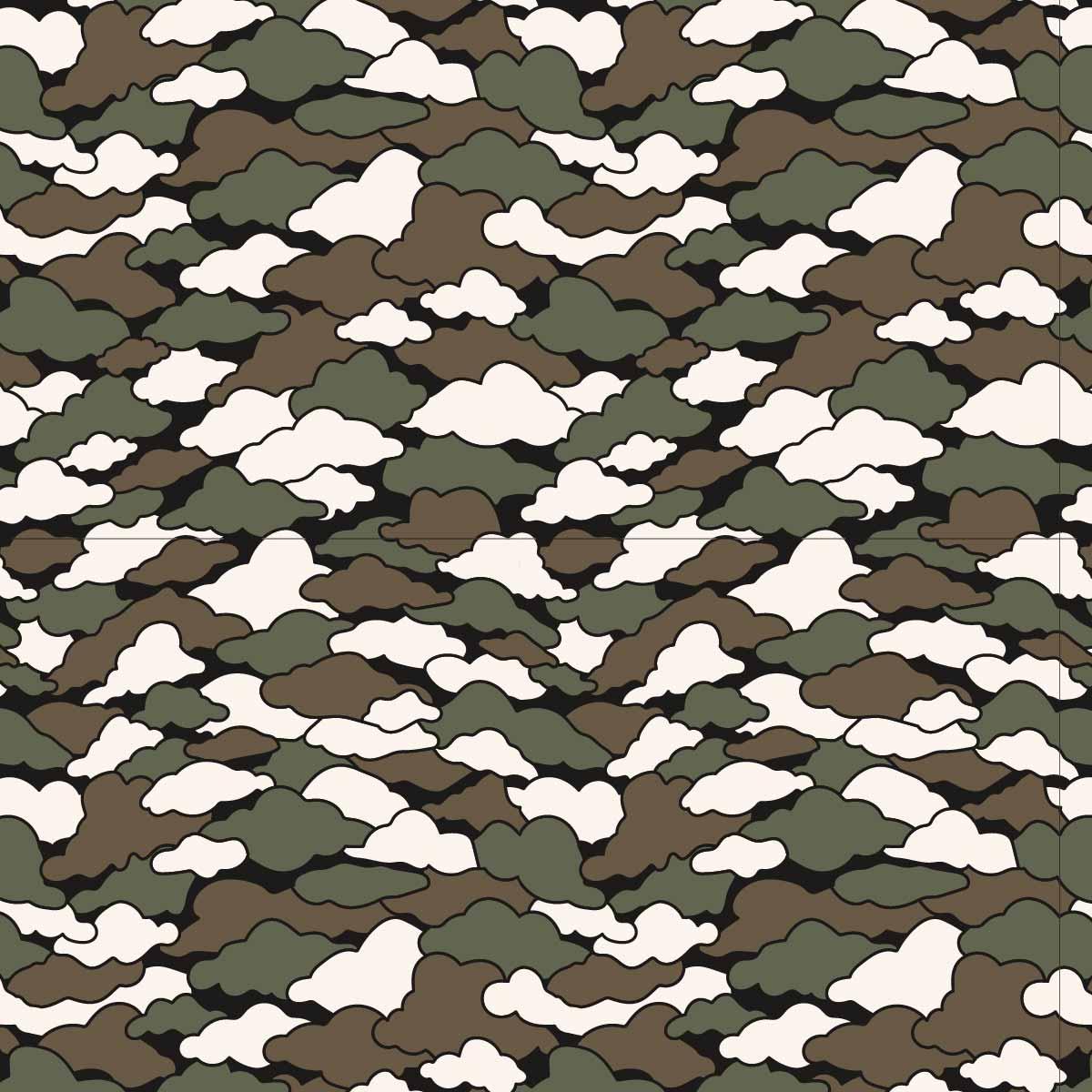 几何花纹云朵迷彩印花矢量图服装纺织数码印花花型素材-POP花型网