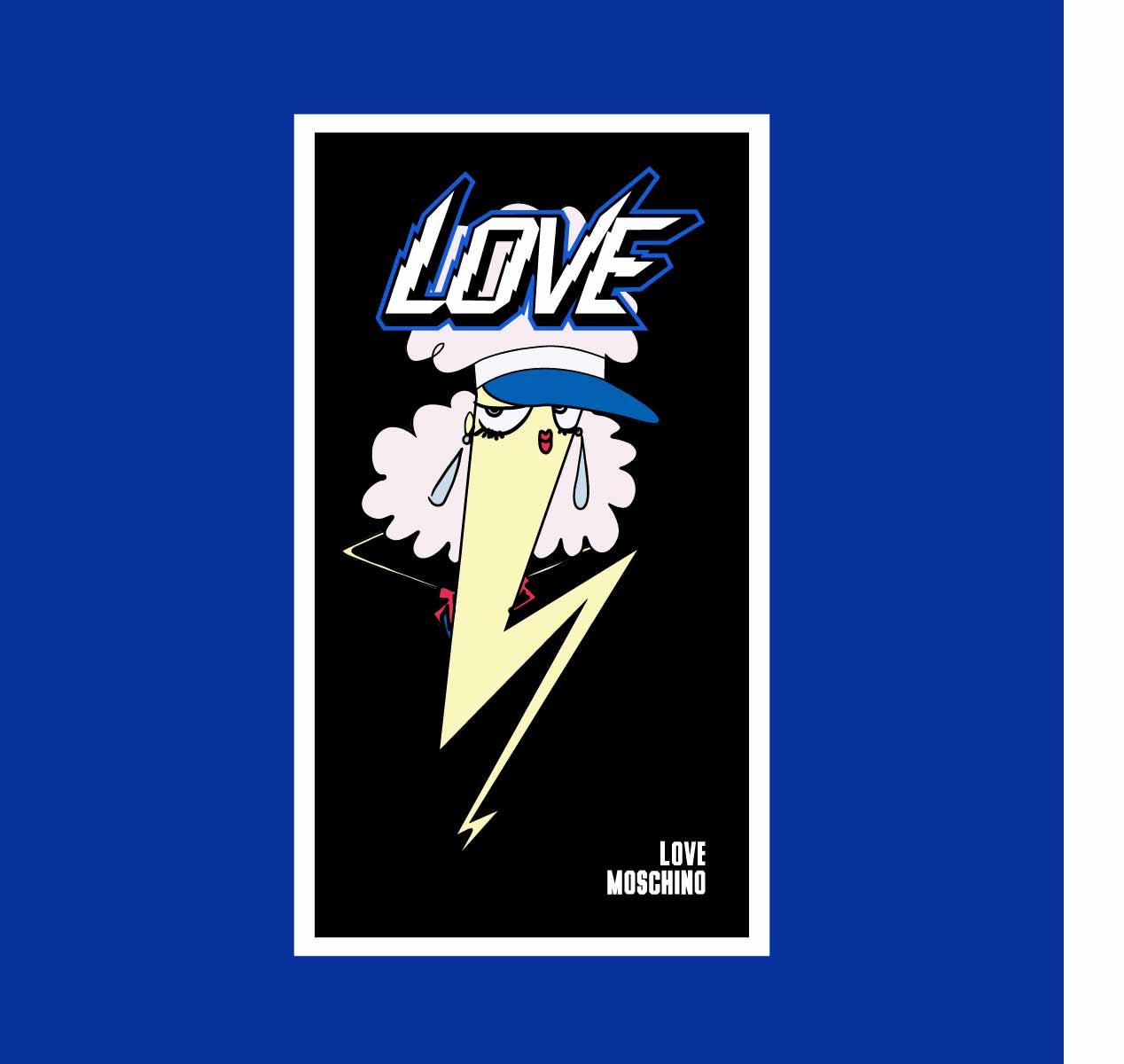 卡通图案闪电字母印花矢量图服装裁片T恤烫图印花花型素材-POP花型网