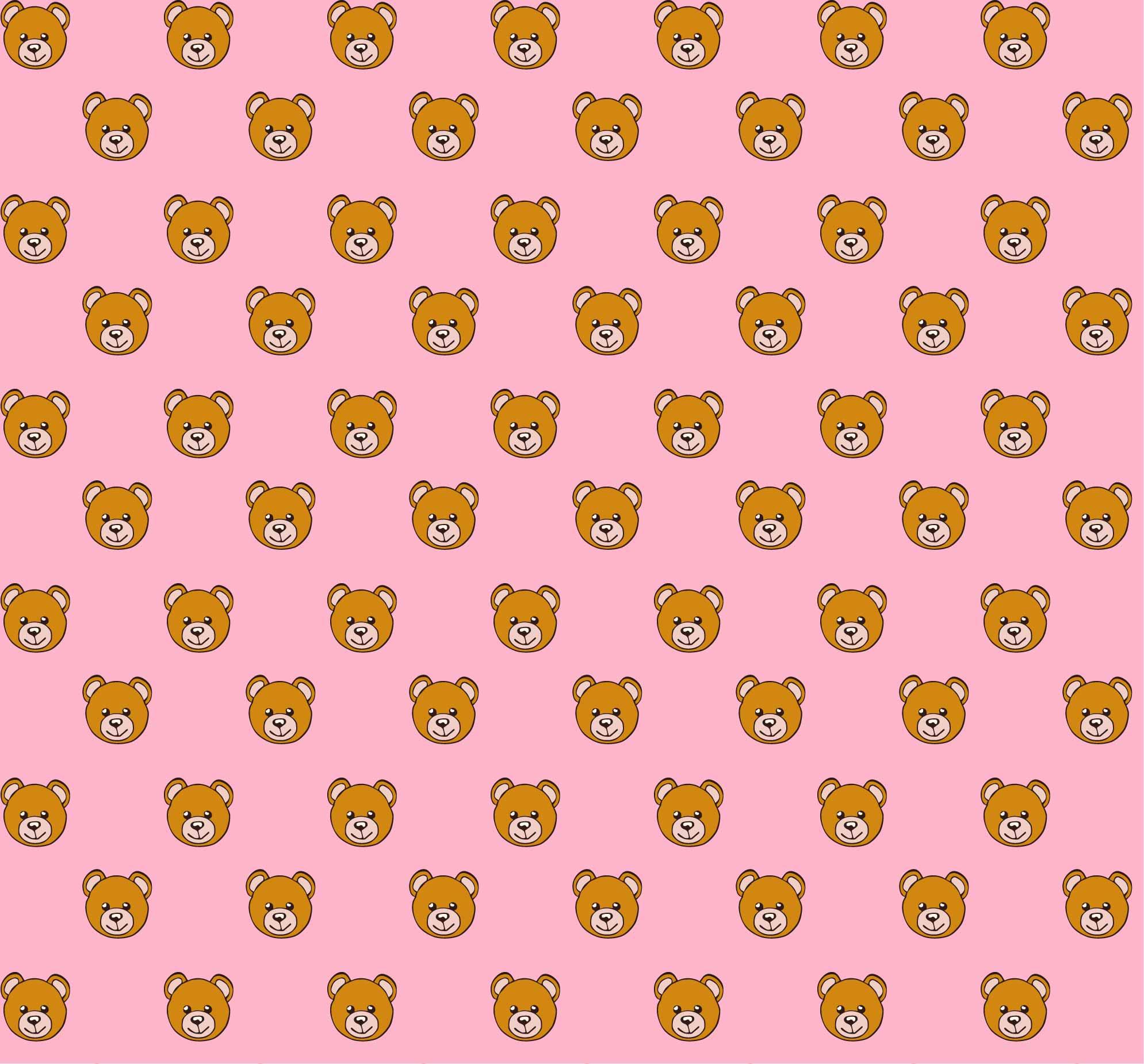 卡通动物眼镜小熊印花矢量图服装纺织数码印花花型素材-POP花型网