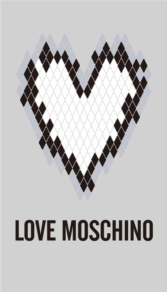 卡通潮牌字母MOSCHINO爱心印花矢量图服装裁片T恤烫图印花花型素材-POP花型网