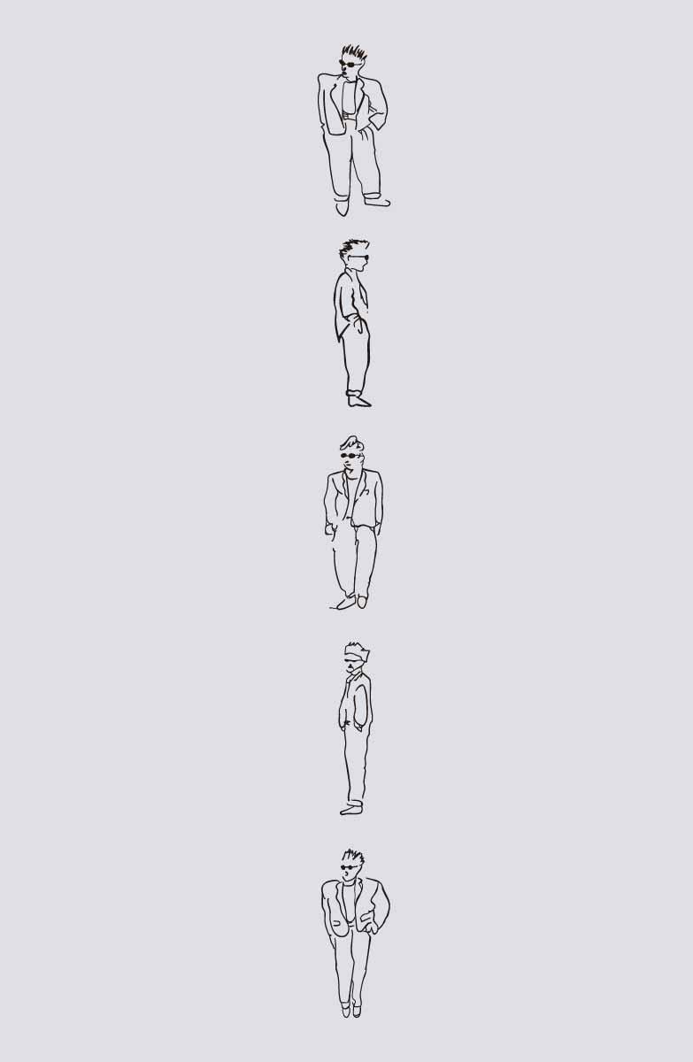 卡通人物图案印花矢量图服装裁片T恤烫图印花花型素材-POP花型网