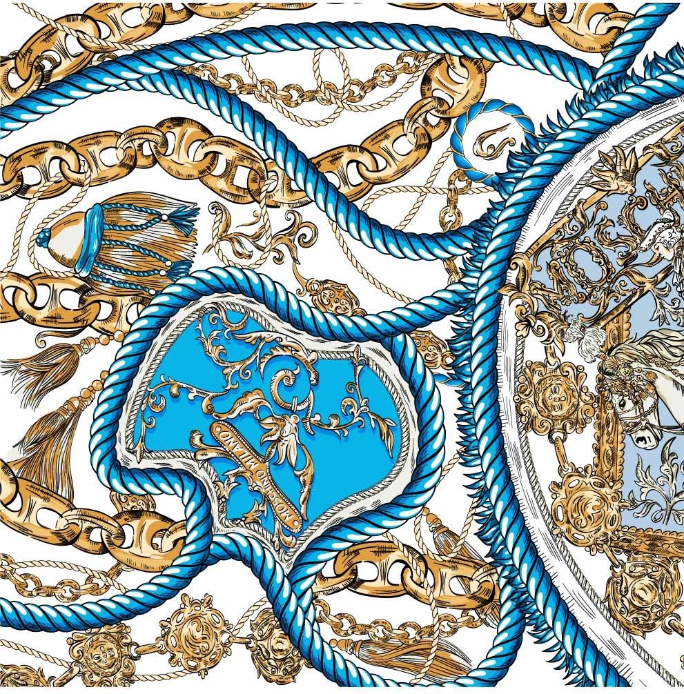 复古几何花纹印花矢量图服装纺织数码印花花型素材-POP花型网