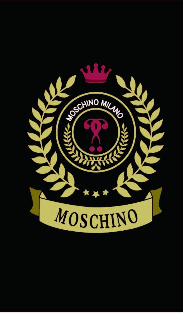 几何花纹字母MOSCHINO皇冠印花矢量图服装裁片T恤烫图印花花型素材-POP花型网