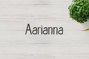 Aarianna Font Family英文字体-POP花型网