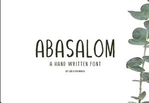 Abasalom Handwritten Font英文字体-POP花型网