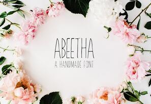 Abeetha Handmade Font英文字体-POP花型网