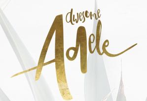 Adeley英文字体-POP花型网