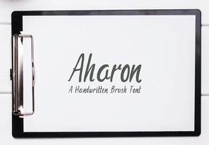 Aharon Brush Font英文字体-POP花型网