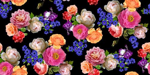 植物牡丹花卉印花图案服装纺织数码印花花型素材-POP花型网