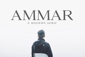 Ammar A Modern Serif英文字体-POP花型网