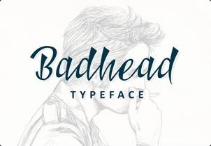 Badhead英文字体-POP花型网