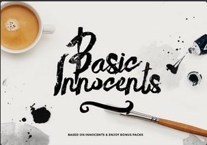 Basic Innocents英文字体-POP花型网