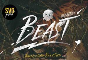 Beast英文字体-POP花型网