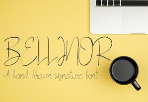 Bellinor Signature Font英文字体-POP花型网