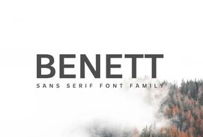Benett Sans Serif Font Family英文字体-POP花型网