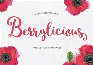 Berrylicious英文字体-POP花型网