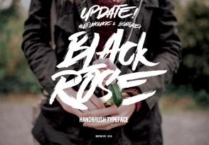 Black Rose英文字体-POP花型网